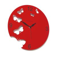 """Designové hodiny D&D 201 Meridiana 30cm (více barevných verzí) Meridiana barvy kov starorůžový """"fuchsia"""" lak"""