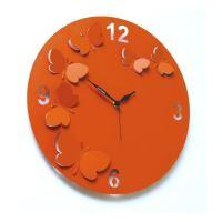"""Designové hodiny D&D 206 Meridiana 38cm (více barevných verzí) Meridiana barvy kov starorůžový """"fuchsia"""" lak"""