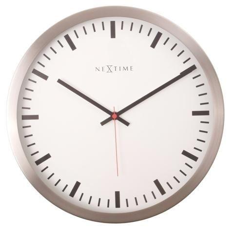 Designové nástěnné hodiny 2522 Nextime Stripe White 34cm
