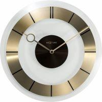 Designové nástěnné hodiny 2790go Nextime Retro Gold 31cm