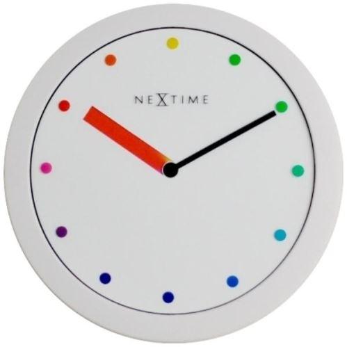 Designové nástěnné hodiny 3047 Nextime Colour Change 28cm