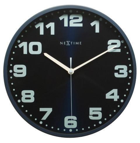 Designové nástěnné hodiny 3053bl Nextime Dash Blue 35cm