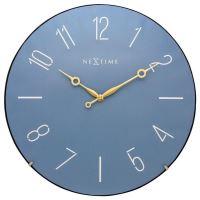Designové nástěnné hodiny 3158bl Nextime Trendy Dome 35cm