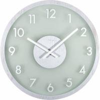 Designové nástěnné hodiny 3205wi Nextime Frosted Wood 50cm