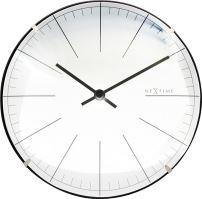 Designové nástěnné/stolní hodiny 3506wi Nextime Big Stripe Mini Dome 20cm