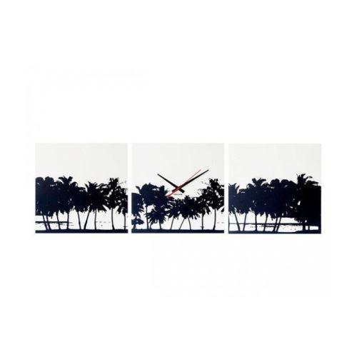 Designové nástěnné hodiny 5484 Karlsson Pláž - 3x obraz