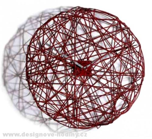 Designové hodiny Diamantini & Domeniconi Ci Vediamo red 50cm