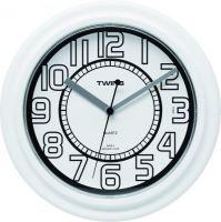 Nástěnné hodiny Twins 406 white 23cm