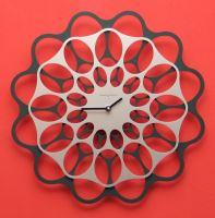 Designové hodiny Diamantini&Domeniconi antracit/aluminium 40cm