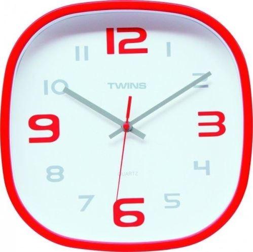 Nástěnné hodiny Twins 10513 red 30cm