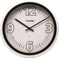 Nástěnné hodiny Twins 2896 black 31cm
