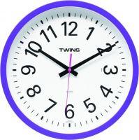 Nástěnné hodiny Twins 10510 blue 30cm
