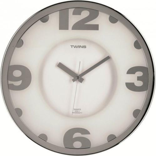 Nástěnné hodiny Twins 2361-1 white 32cm
