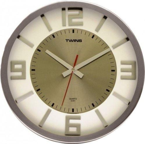 Nástěnné hodiny Twins 2361 white 32cm