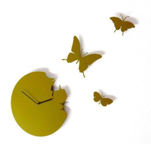 Designové hodiny Diamantini & Domeniconi Butterfly green 40cm