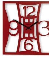 Designové hodiny D&D 377Q Meridiana 39cm Meridiana barvy kov bílý lak