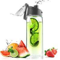 ASOBU designová fresh láhev s infuserem Flavour It šedá 600ml