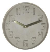 Designové nástěnné kameninové hodiny CL0128 Fisura 35cm