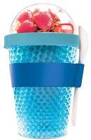 ASOBU multifunkční chladící svačinový kelímek CY2GO 386ml, modrý