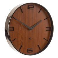 Designové nástěnné hodiny Future Time FT3010BR Flat walnut 30cm