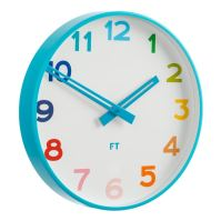 Dětské nástěnné hodiny Future Time FT5010BL Rainbow blue 30cm