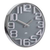 Designové nástěnné hodiny Future Time FT7010GY Numbers 30cm