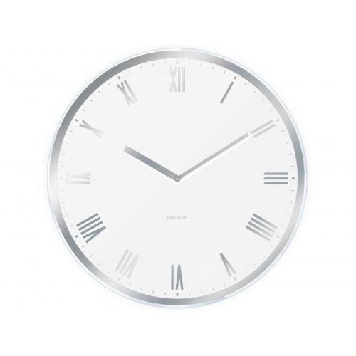 Designové nástěnné hodiny 5423WH Karlsson 40cm