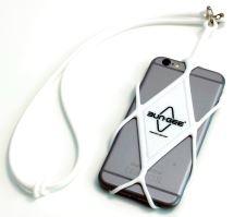 Bezpečnostní šňůra na mobilní telefon Bun-Gee white