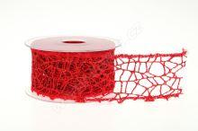Dekorativní stuha Big spider glitter 5cm x 9,1m 2-ČERVENÁ