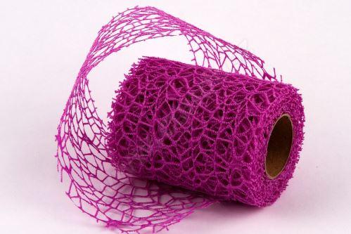 Dekorativní tkanina Big spider 10cm x 4,6m FIALOVÁ