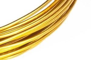 Dekorační drát hliníkový - zlatý
