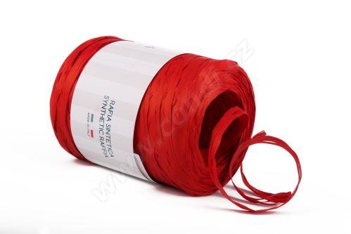 Stuha rafie matná 6802 5mm x 200m - 77 červená