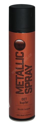 Barva ve spreji metalická s vysokým leskem 400ml METALIC SPRAY - měděná 007
