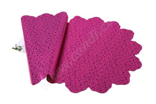 Ronda 40cm metal růžová kolečka 2/2 50ks
