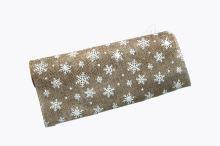 Vánoční jutová role 28cm x 3m 47 - přírodní/bílá