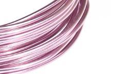 Dekorační drát hliníkový - růžový