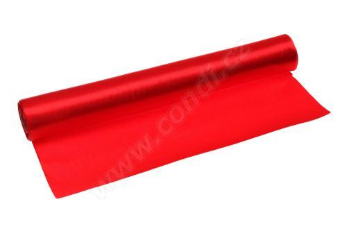 Saténová role 36cm x 9,1m 50 - červená
