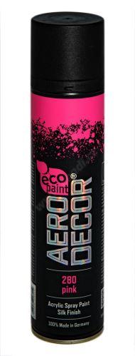 Barva ve spreji 400ml AERO DECOR - růžová 280