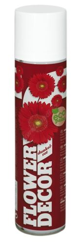 Barva ve spreji na živé květiny 400ml FLOWER DECOR - tmavě červená 12961