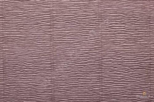 Krepový papír role 50cm x 2,5m - šedý 604