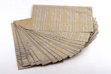 Sáček polypropylenový metalizovaný s potiskem 20 x 32cm 50ks matně bílý se zlatou/stříbrnou