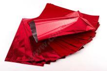 Sáček polypropylenový metalizovaný s potiskem 20 x 35cm 50ks červený s červenouu
