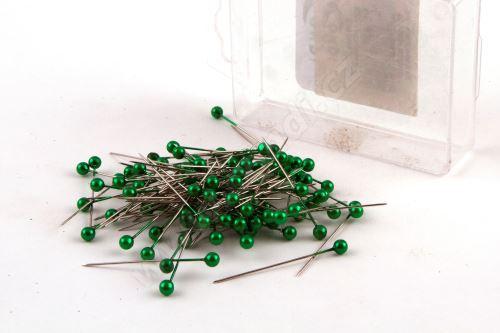 Dekorační špendlík do klopy 38mm zelený