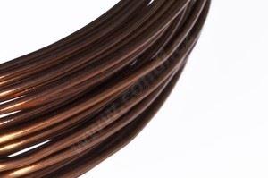 Dekorační drát hliníkový - hnědý