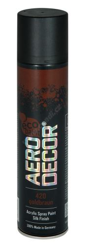 Barva ve spreji 400ml AERO DECOR - zlatohnědá 420