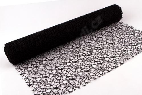 Dekorativní tkanina Big spider 50cm x 4,6m ČERNÁ