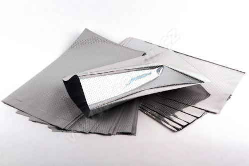Sáček polypropylenový metalizovaný s potiskem 20 x 35cm 50ks bílý se stříbrnou