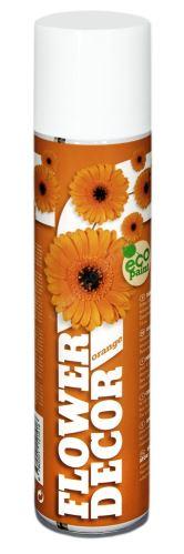 Barva ve spreji na živé květiny 400ml FLOWER DECOR - oranžová 12101