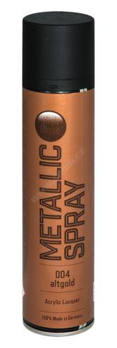 Barva ve spreji metalická s vysokým leskem 400ml METALIC SPRAY - anticky zlatá 004