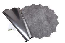 Ronda 50cm metal stříbrná mramor 1/2 50ks